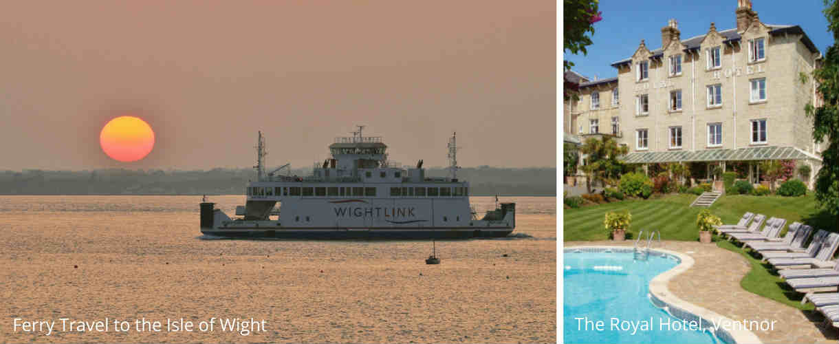 Accommodation Isle of Wight - Isle of Wight Ferry, The Royal Hotel, Ventor