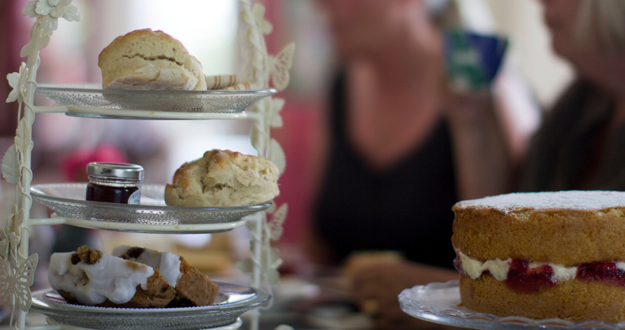 Cream tea for Mothers' Day on the Isle of Wight