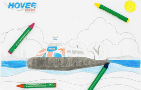 Hovercraft colouring in
