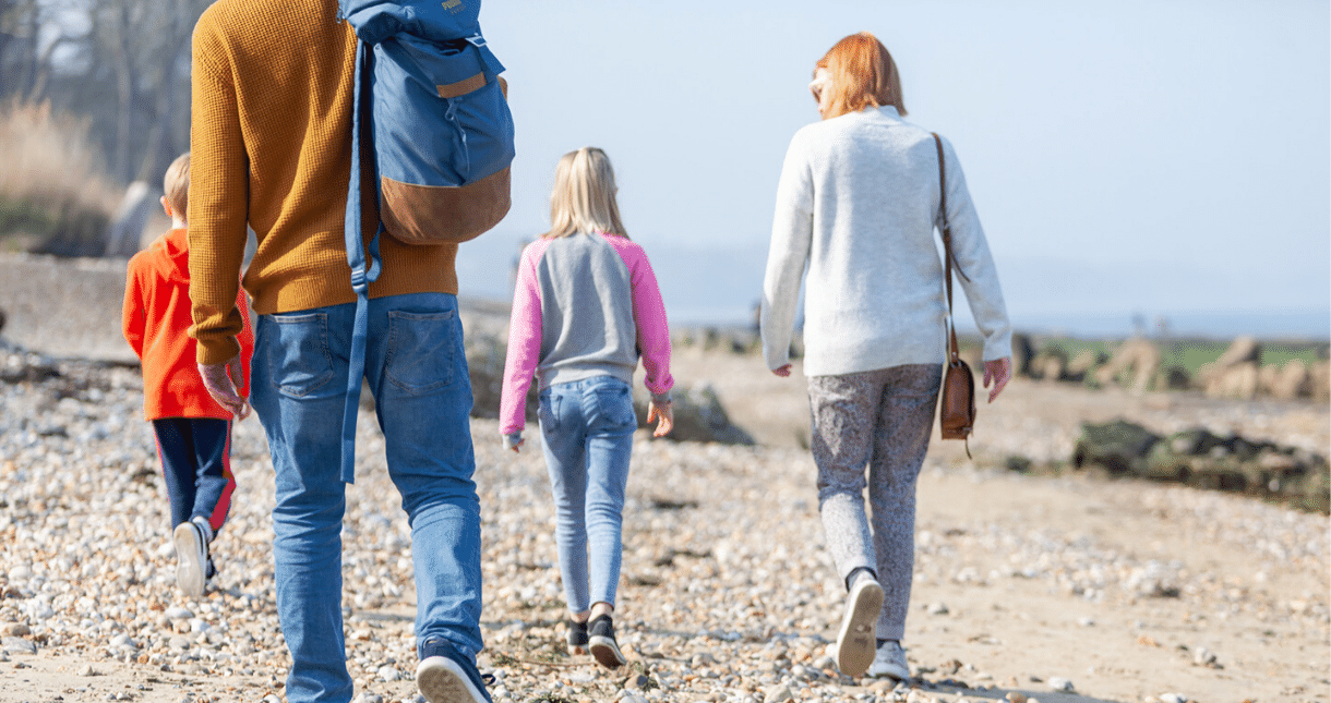Family seaside walks on the Isle of Wight