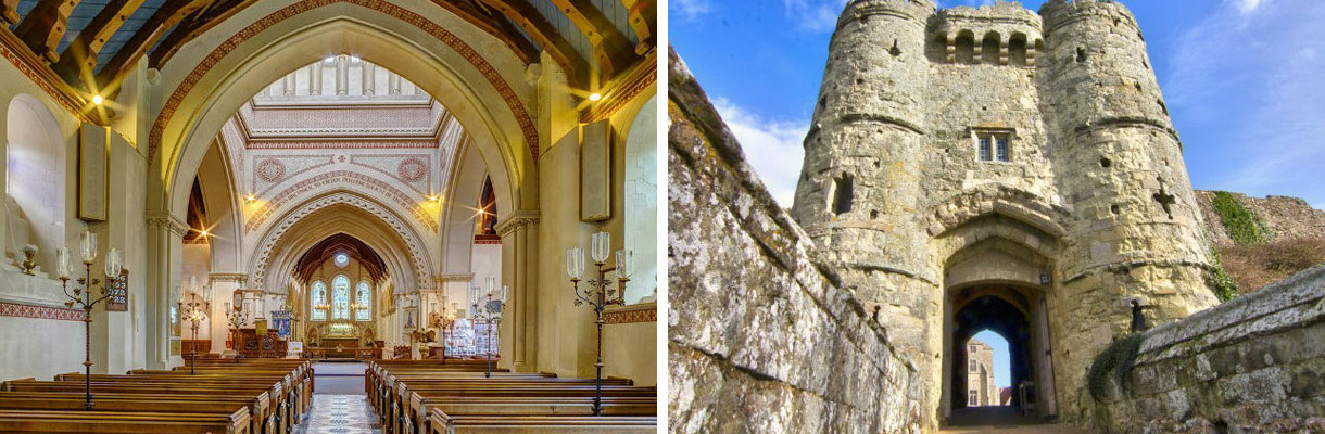 Kings and Queens and History - St Mildred's Church and Carisbrooke Castle on the Isle of Wight