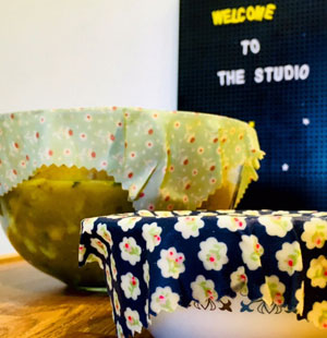 Beeswax food wraps at Tiny Homes Holidays on the Isle of Wight