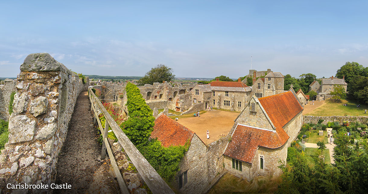 Carisbrooke Castle - Eating out with history - Isle of Wight