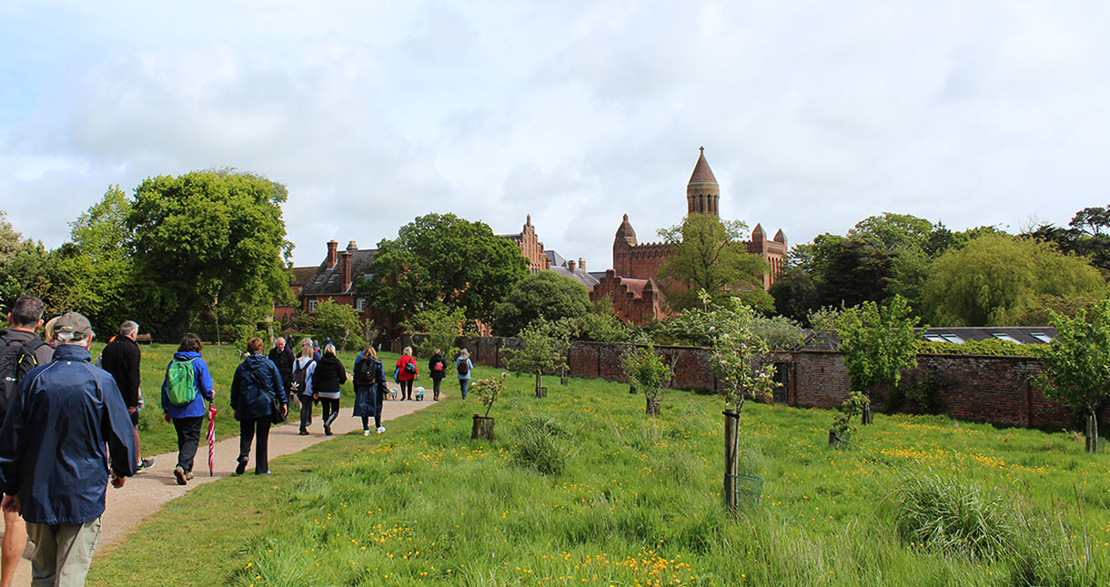 Follow the footsteps to beautiful Quarr