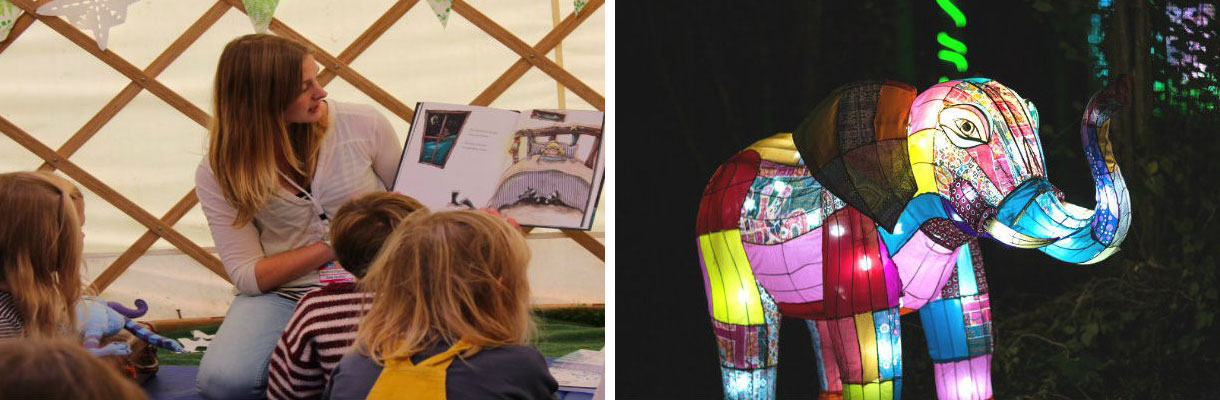 Isle of Wight Literary Festival Youth Zone and Festival of Light at Robin Hill
