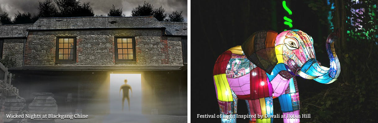 Wicked Nights at Blackgang Chine and Festival of Light Inspired by Diwali at Robin Hill on the Isle of Wight