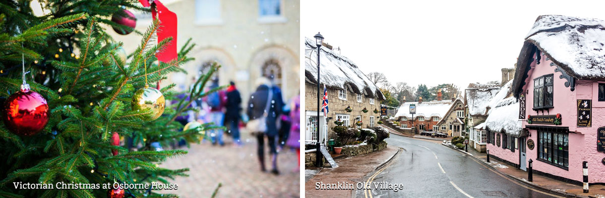 Victorian Christmas at Osborne House - Shanklin Old Village in the snow