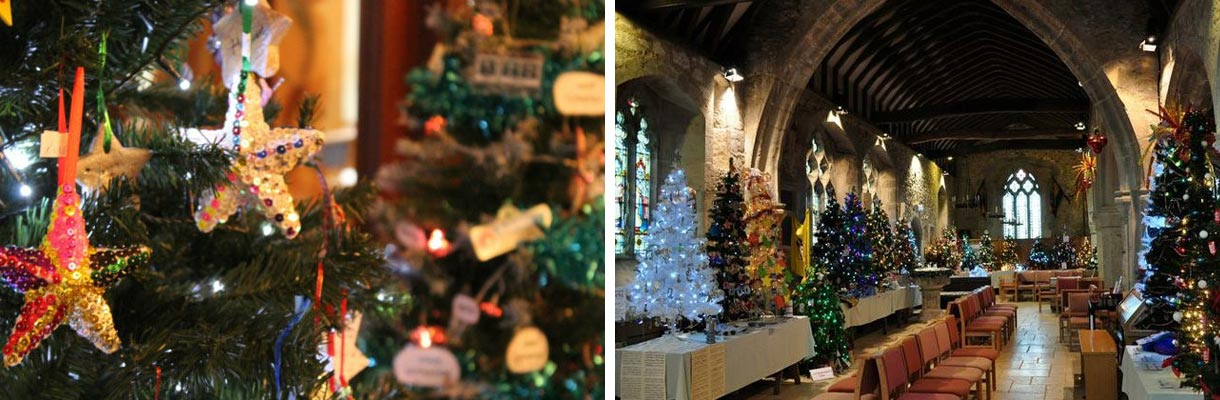 Brighstone Christmas Tree Festival on the Isle of Wight