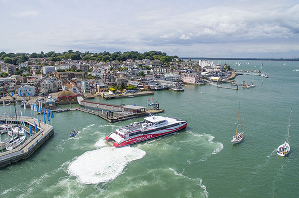 Cowes, Isle of Wight - Red Funnel Ferries