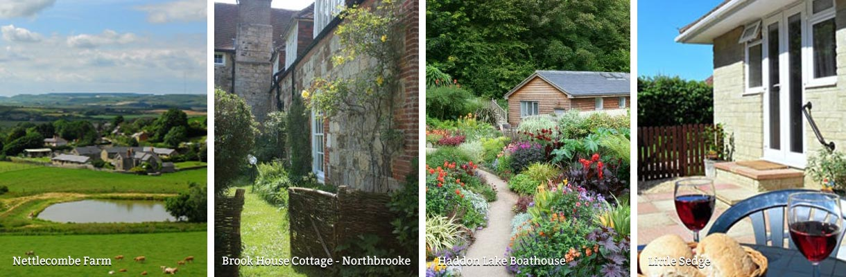 Holiday cottages in the countryside on the Isle of Wight