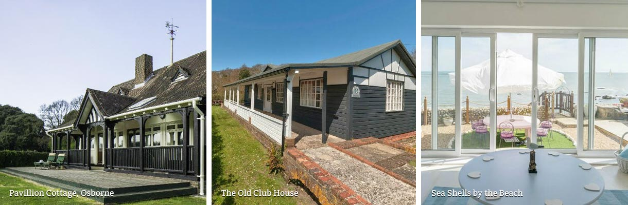 Holiday cottages near the beach on the Isle of Wight