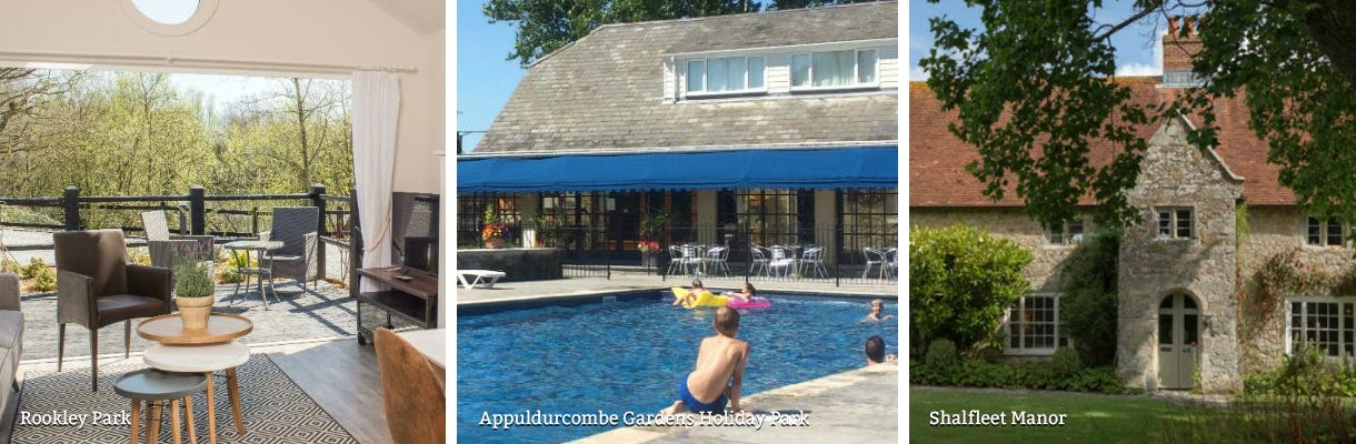 Holiday cottages with a swimming pool on the Isle of Wight