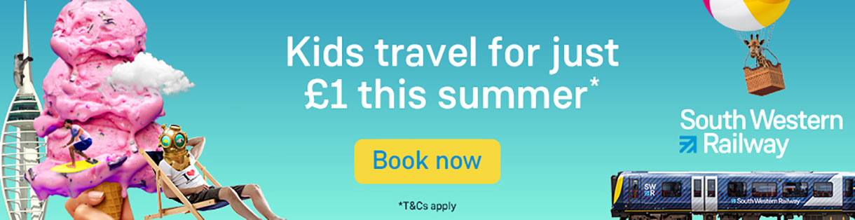 Kids travel for just £1 this summer with South Western Railway
