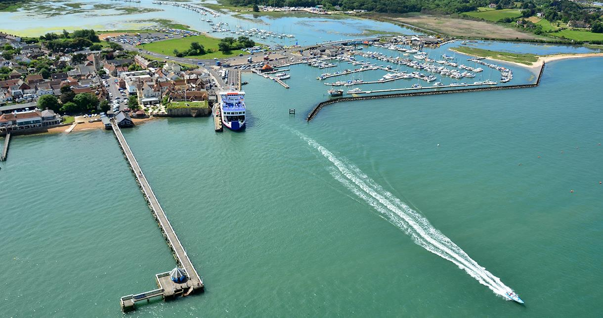Ferry and Harbour at Yarmouth