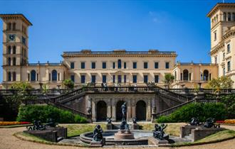 Rear view of Osborne house from gardens, attraction, things to do, East Cowes, Isle of Wight