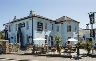 Isle of Wight, The Boat House, Public House, Seaview, Outside Tables