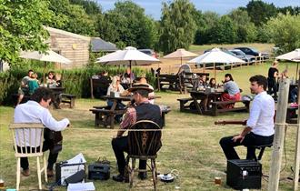 Jazz band playing at The Garlic Farm Restaurant, Isle of Wight, What's On