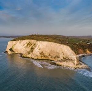 Aerial view of cliffs on the Isle of Wight
