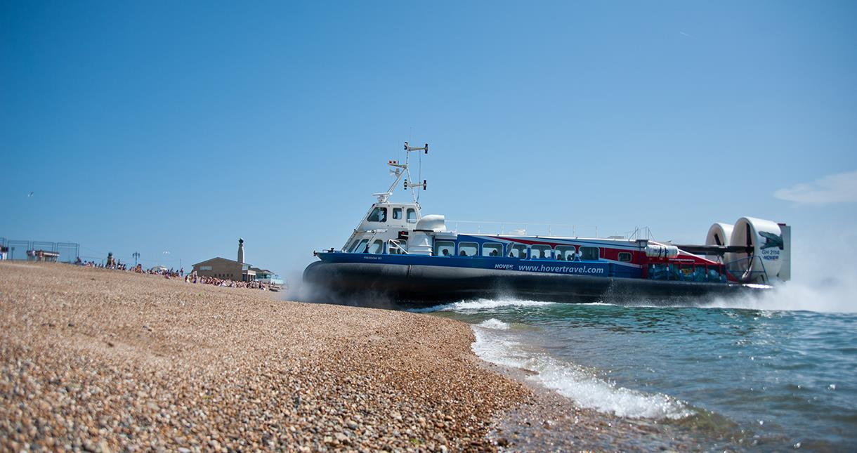 Hovercraft landing at Southsea