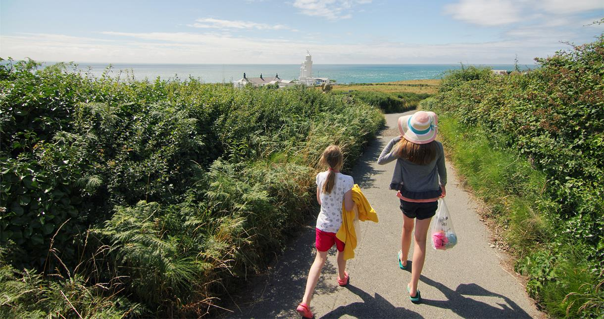 Walk down to St Catherine's Lighthouse