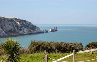 View of The Needles from the Needles View Cottage at Alum Bay - Self Catering Isle of Wight