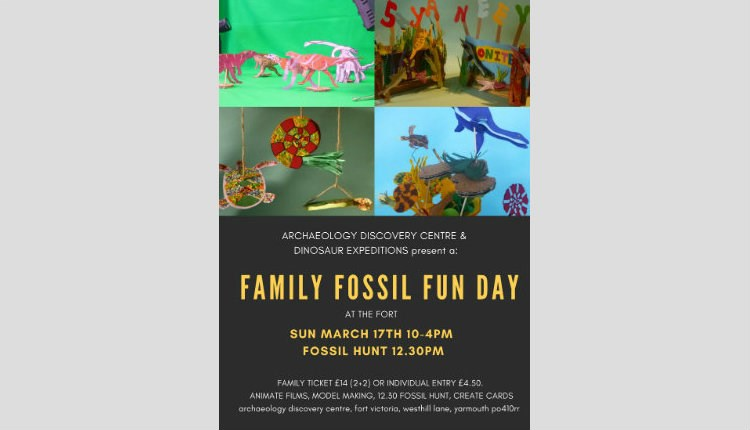 Isle of Wight, Things to Do, Family Fun, Fossil Fun Day, Poster