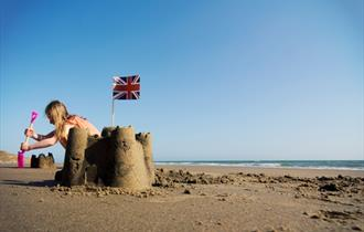 #43 - Build a sand fortress at Compton Bay