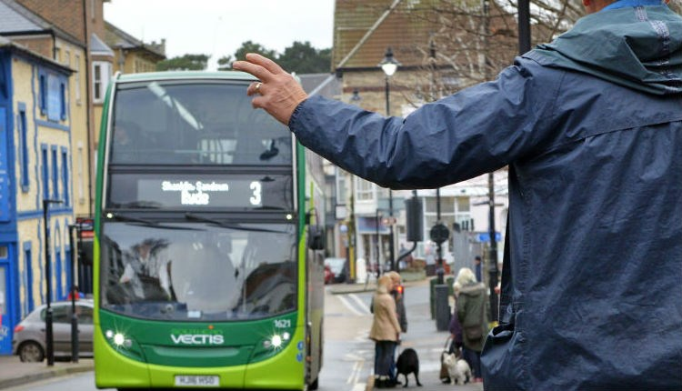 Christmas Day bus service - Southern Vectis bus  - Isle of Wight sightseeing