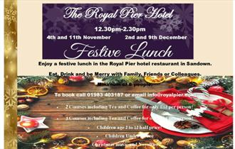 Isle of Wight, Food and Drink, Festive Lunches, Sandown, Royal Pier Hotel