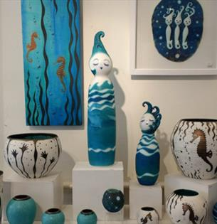 Isle of Wight, Things to Do, Quarr Abbey, Art Exhibition, Ceramics and Paintings