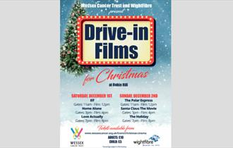 Isle of Wight, Drive in Christmas Cinema, Robin Hill, Newport