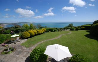 Garden view at The Miclaran - Bed and Breakfast Isle of Wight