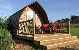 Isle of Wight, Accommodation, Glamping, Toms Eco Lodges, TAPNELL FARM, Eco Pod, Exterior