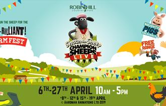 Shaun the Sheep family fun event at Robin Hill Country Park - What's On, Isle of Wight