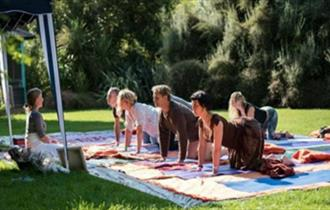 Isle of Wight, Wellbeing Festival, Ventnor Botanic Garden, YOGA