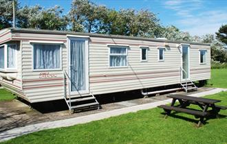 Caravan at Dinosaur Farm Holidays - Self-catering, Isle of Wight