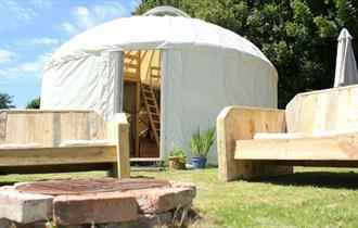 Luxury Yurts on The Garlic Farm